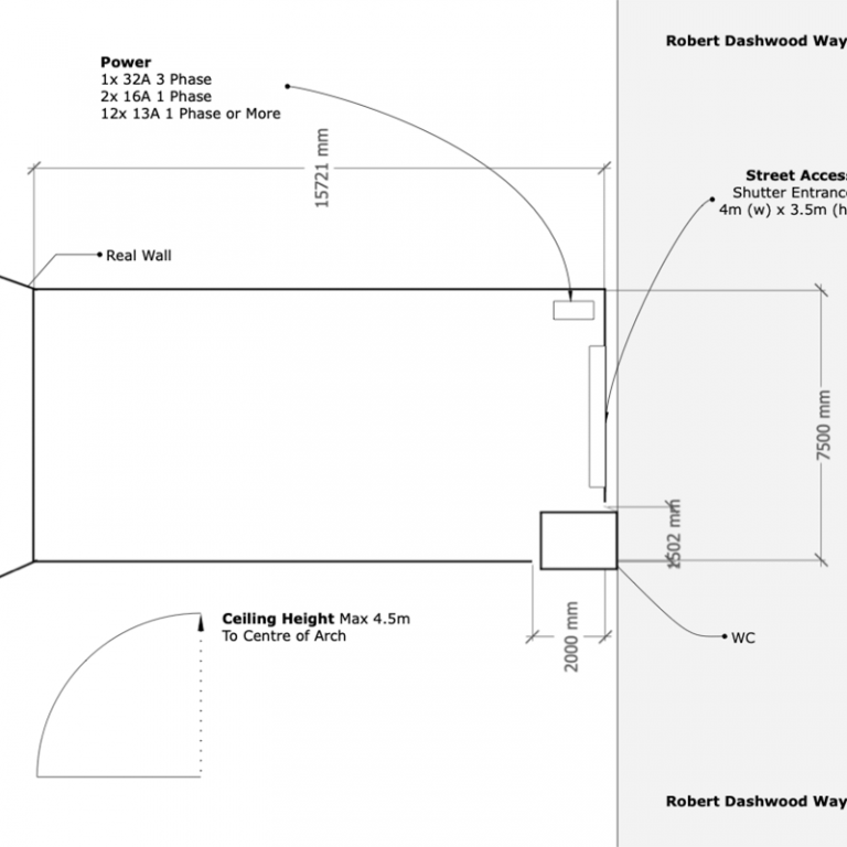 Studio 168 Floor Plan