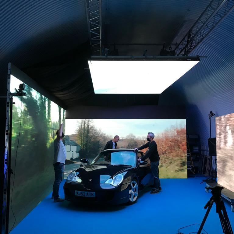 LED Screen For Car Shoot in studio