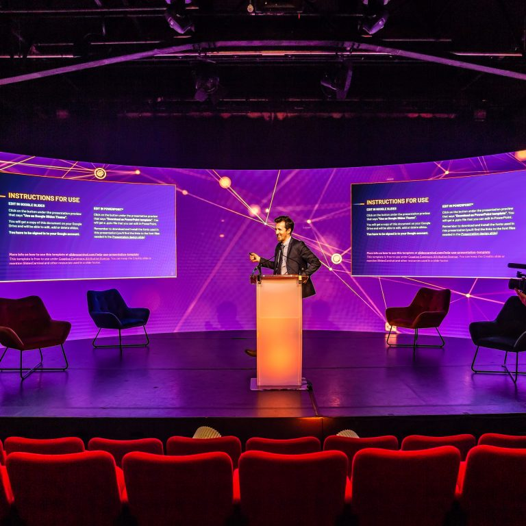 LED Screen curved TV studio London