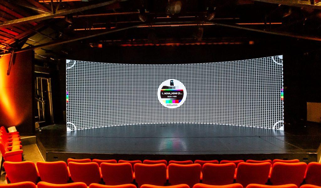Curved LED studio Hire London