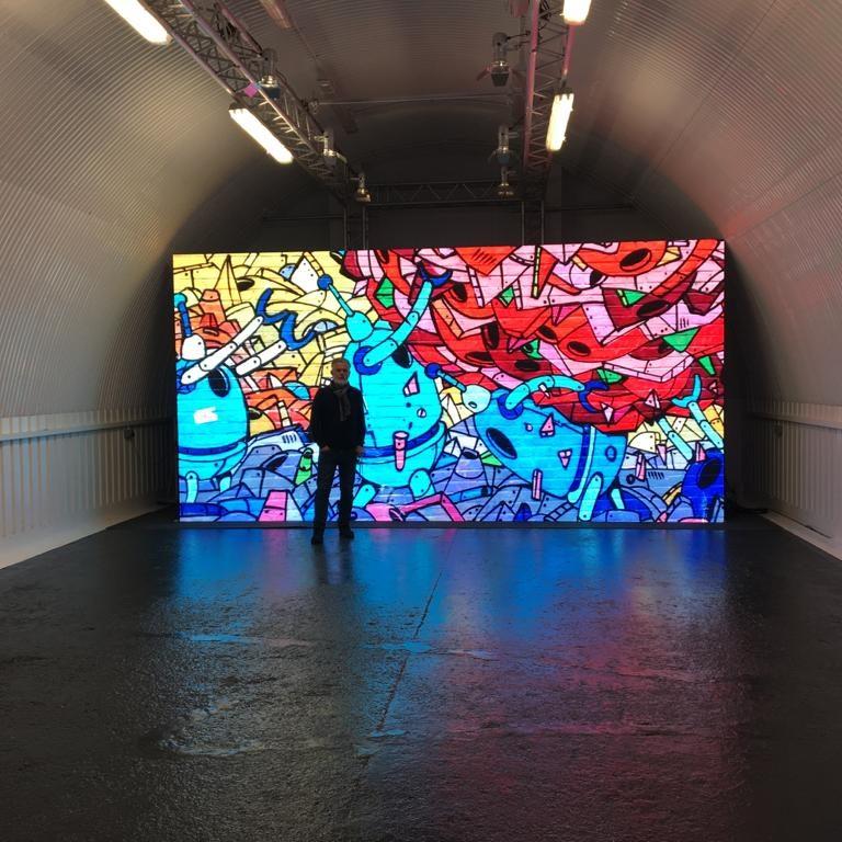 LED Screen With Grafiti