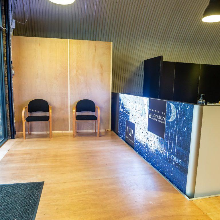 Reception at arch160 studio London